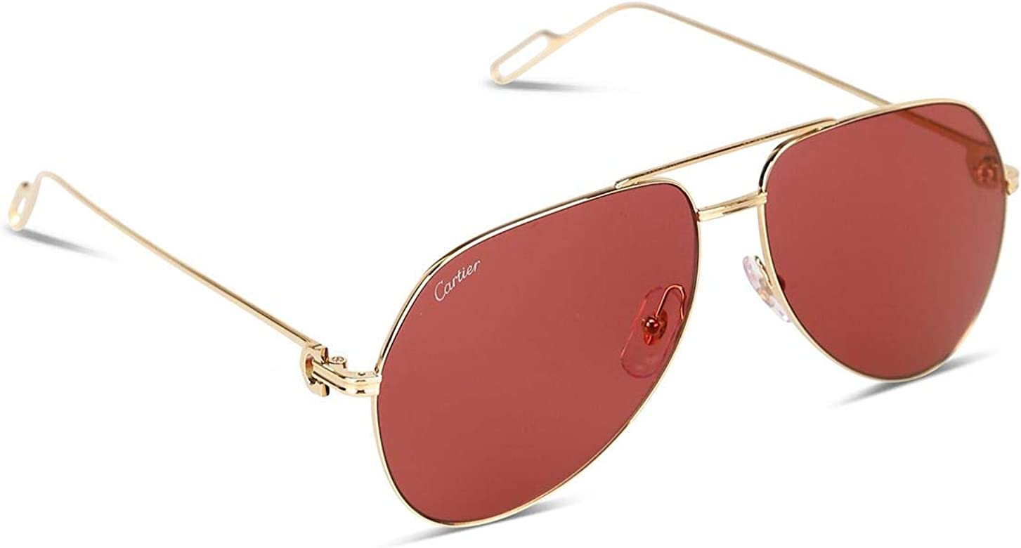 Luxury Fashion | Cartier Hombre Ct0110s010 Oro Gafas De Sol ...