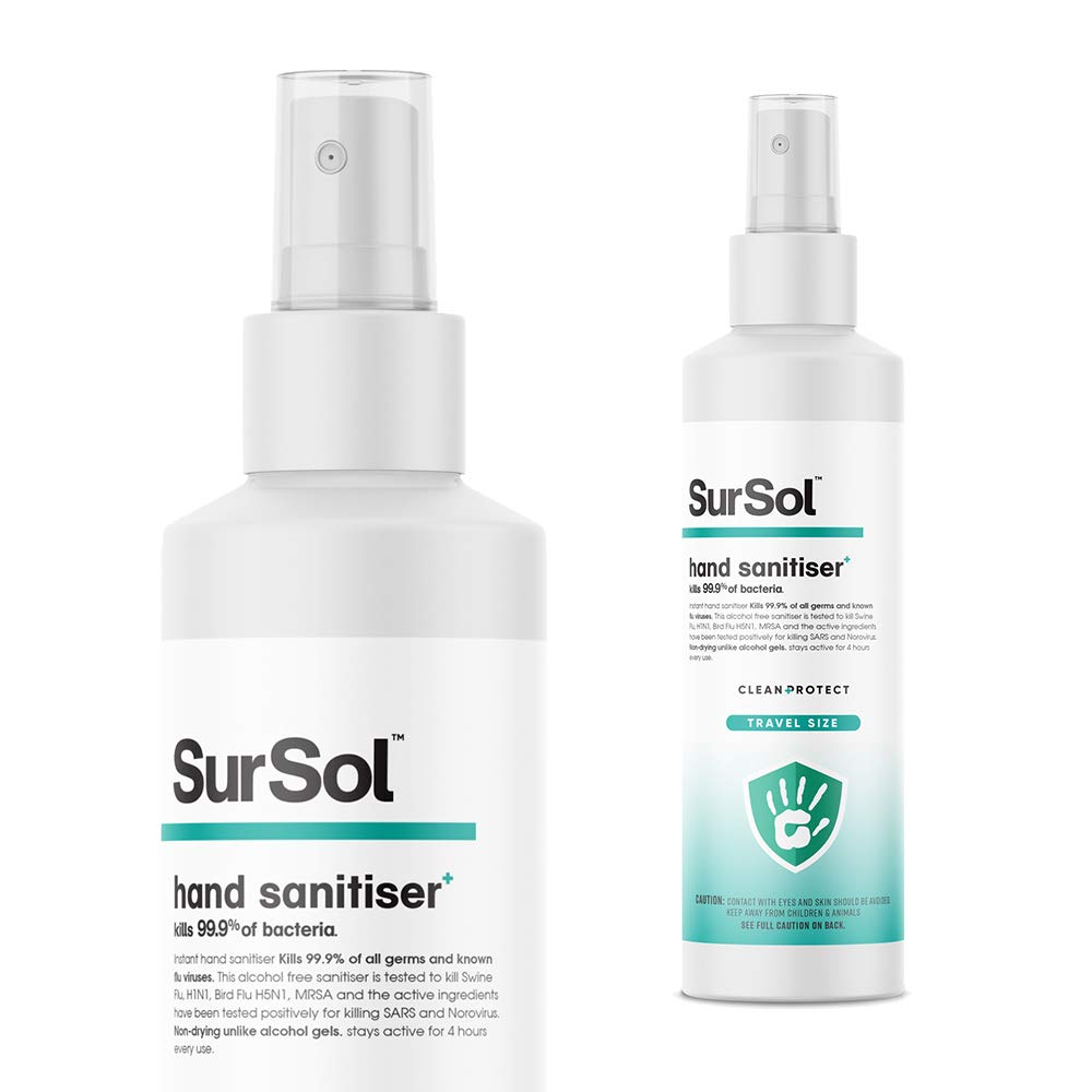 Sursol Pocket Size Antibacterial Alcohol Free Hand Sanitizer 50ml