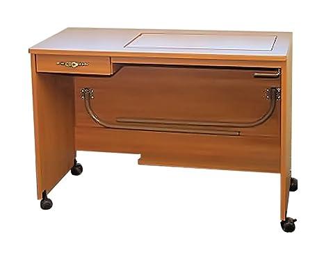 Moda de costura gabinetes modelo 387-q Quilt/bordado mesa con manual Lift Swiss