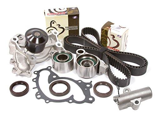 (Evergreen TBK257AHWPT Fits 01-08 Lexus ES330 RX330 Toyota 1MZFE 3MZFE Timing Belt Kit Water Pump )