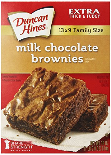 Duncan Hines Milk Chocolate Brownie Mix, 18 oz