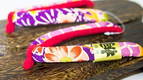 L 26cm Paulownia Calzado Madera Hecho japón Crisantemo Tamaño De Tradicional Sandalia rojo Geta Púrpura Diseño fqWPSP7HZ