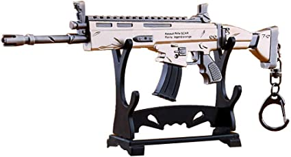 Fornite Battle Royale Gun Model Alloy Weapons Scar Collection Keychain Fort.nite