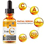Vitamin C Serum for Face with Retinol & Hyaluronic Acid - USA Made - Anti Aging Collagen Facial Serum - Best Anti Wrinkle Solution for Skin and Neck