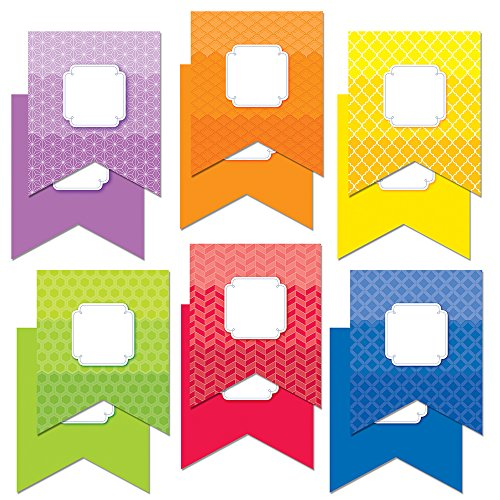 "Creative Teaching Press 6"" Designer Cut-Outs, Pennants (6492)"