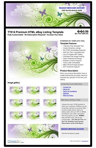 TT014 Premium HTML eBay Listing Template, Professional Auction ...