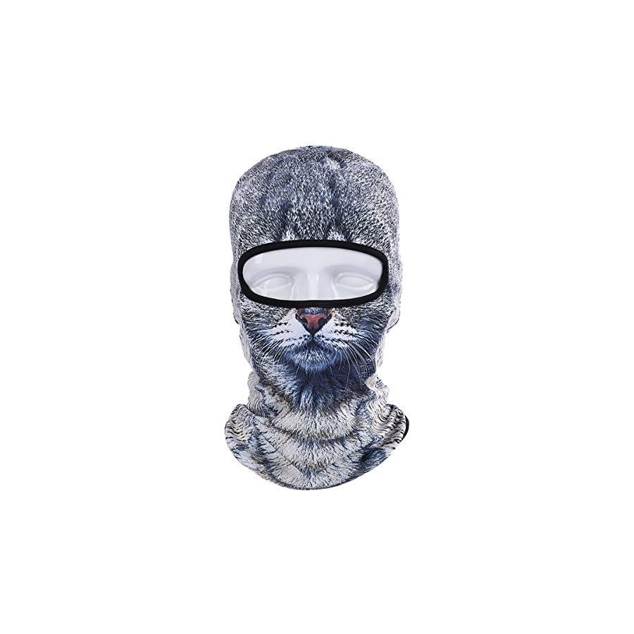 JIUSY 3D Animal Funny Balaclava Face Mask Cycling Motorcycle Skiing Snowboarding Music Festivals Halloween
