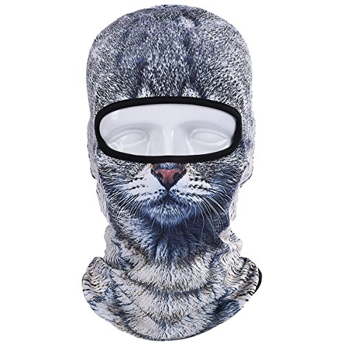WTACTFUL Animal Balaclava Face Mask Breathable Wind Dust UV Helmet Liner Protection Skiing Snowboard Snowmobile Cycling Motorcycle Driving Riding Biking Fishing Hunting Music Festivals Halloween BNB09 -