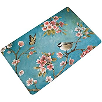 Amazon Com Financeplan Elegant Bird Door Mat Bathroom