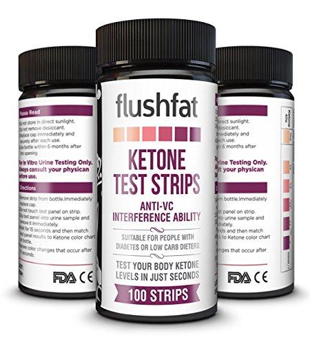 FlushFat Ketone Strips: Test Ketosis for Diabetics, Ketogenic, Low Carb High Fat, Paleo & Atkins ...