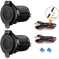 Autosigarettenaansteker-stopcontact, 12 V/24 V, waterdicht, voor auto, motorfiets, marine, camper, vrachtwagen, SUV, UTV…