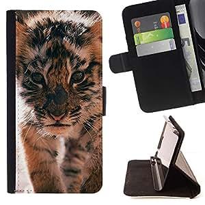 Momo Phone Case / Flip Funda de Cuero Case Cover - Roar Cute Puppy animal à fourrure - Sony Xperia Z5 5.2 Inch (Not for Z5 Premium 5.5 Inch)