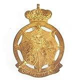 Original Belgian WWII Civilian Defense German Occupation Helmet Badge