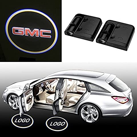 DiiZii 10th No Drill Wireless Car Door Welcome Projector Ghost Shadow LED Logo Lights For GMC (Pack of 2) - (Mustang Door Projector Lights)