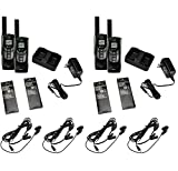 COBRA CXR925 Two Way Radio Walkie Talkie with Earbud and Mic