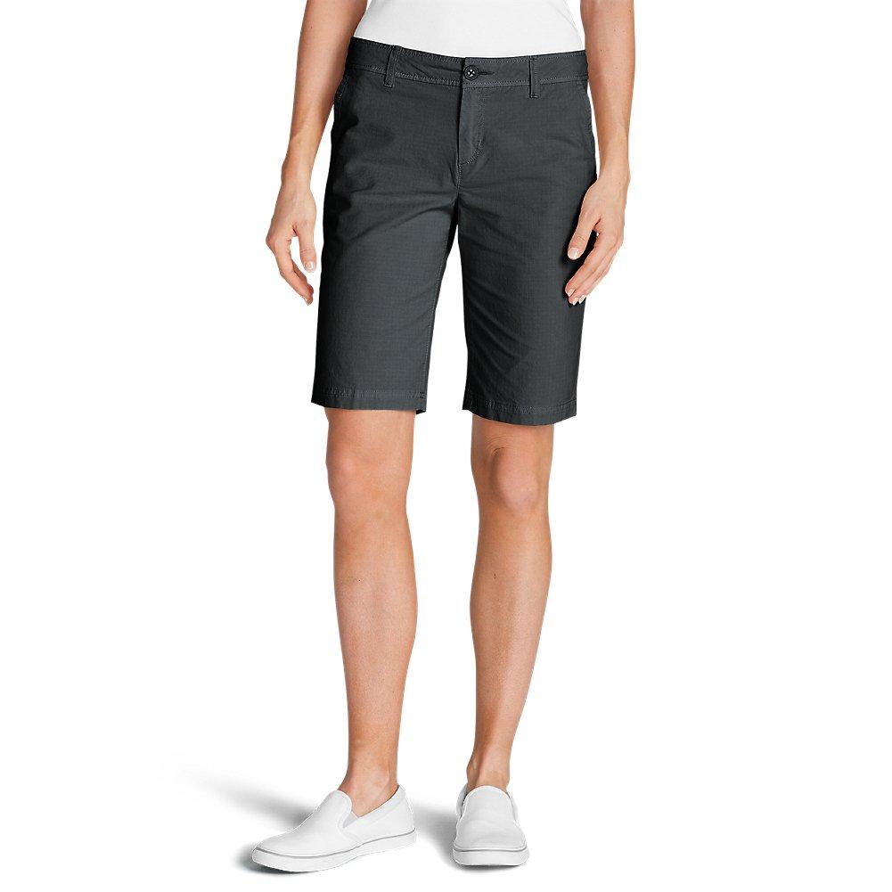 152ef2d08e Eddie Bauer Women's Adventurer Stretch Ripstop Bermuda Shorts - Slightly  Curvy, Dk Smoke (Grey), 2 Regular, 2 Regular, Dk Smoke (Grey) at Amazon  Women's ...