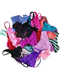 Varity of Women Underwear Pack T-Back Thong G-String Lacy Panties Tanga