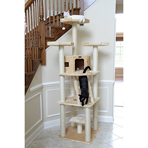 Armarkat Cat Tree Tower With 3 Perches and Condo