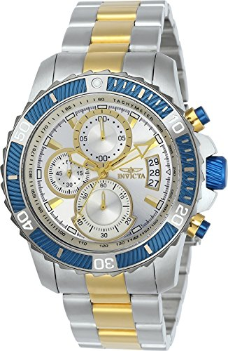 Invicta Men's 'Pro Diver' Quartz Stainless Steel Casual Watch, Color:Two Tone (Model: 23994)