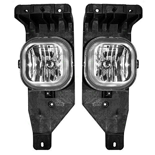 Driver and Passenger Fog Lights Lamps Replacement for Ford Pickup Truck SUV 6C3Z15200BA 6C3Z15200AA AutoAndArt