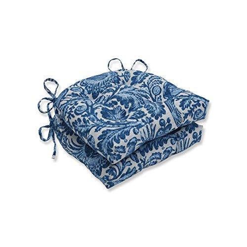 - Pillow Perfect Outdoor | Indoor Tucker Resist Azure Reversible Chair Pad (Set of 2), Blue 16 X 15.5 X 4