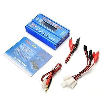 SATKIT Imax B6 Cargador y descargador de baterias Lipo Nimh Nicd r+Adaptador de Corriente