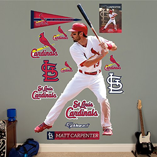 MLB St. Louis Cardinals Matt Carpenter Fathead Wall Decal, Real Big