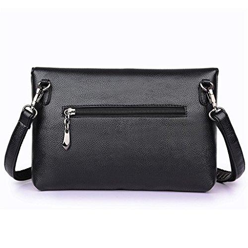 dell'unità modo di cuoio del di del della di black Handbag di grey colori signora sacchetto spalla lavorano del messaggero NVBAO elaborazione di sacchetto spalla Sacchetto cinque w7OqTO