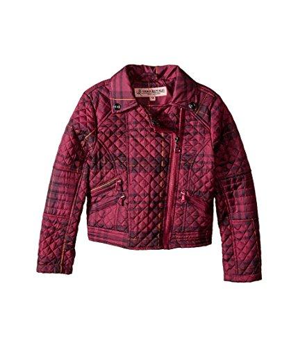 Urban Republic Kids Girl's Moto Thinfill Quilted Jacket (Little Kids/Big Kids) Tartan Pink Plaid 4 (Plaid Jacket Moto)