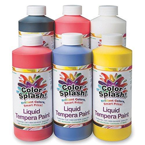 16 oz. Color Splash! Liquid Tempera Paint Assortment (Tempera Paint Assortment)