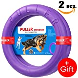 New Version 2018 K9 Training Equipment and Bonus - Large Medium K9 Dog Training tool - Dog Supplies - Real physical and emotional load your dog - Set 2 Rings by Puller Plus - Size 11.2 inches