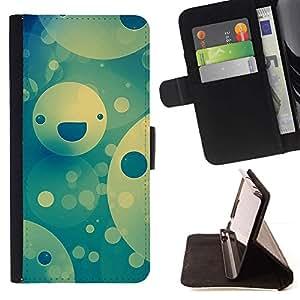 Momo Phone Case / Flip Funda de Cuero Case Cover - Feliz patrón de la cara;;;;;;;; - HTC DESIRE 816