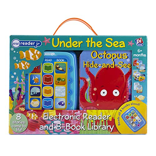 Under The Sea Me Reader Junior Electronic Reader and 8-Board Book Library - PI Kids (Electric Sea Animals)