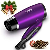 CONFU Hair Dryer Portable Folding Handle Blow Dryer with Comb, 57...