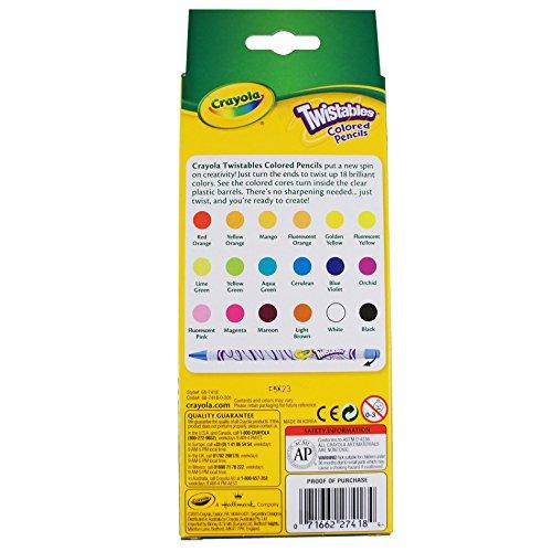 crayola 68 7409 lpiz de color nionia multicolor multi amazoncommx juegos y juguetes - Crayola Colored Pencils Twistables