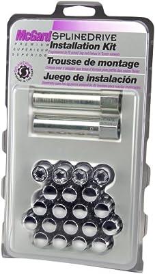 for 5 Lug Wheels M12 x 1.25 Thread Size McGard 65554 Chrome SplineDrive Wheel Installation Kit