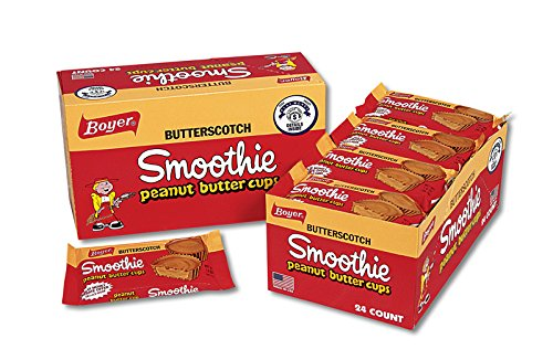 Boyer Candy Co Butterscotch Peanut Butter Smoothie Cup, 1.6-Ounce Packages (Pack of 24)