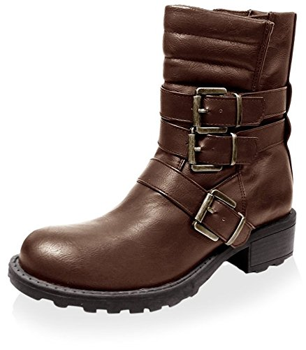 Jacobies Womens Combat Boot Brown kdyjaqhRD