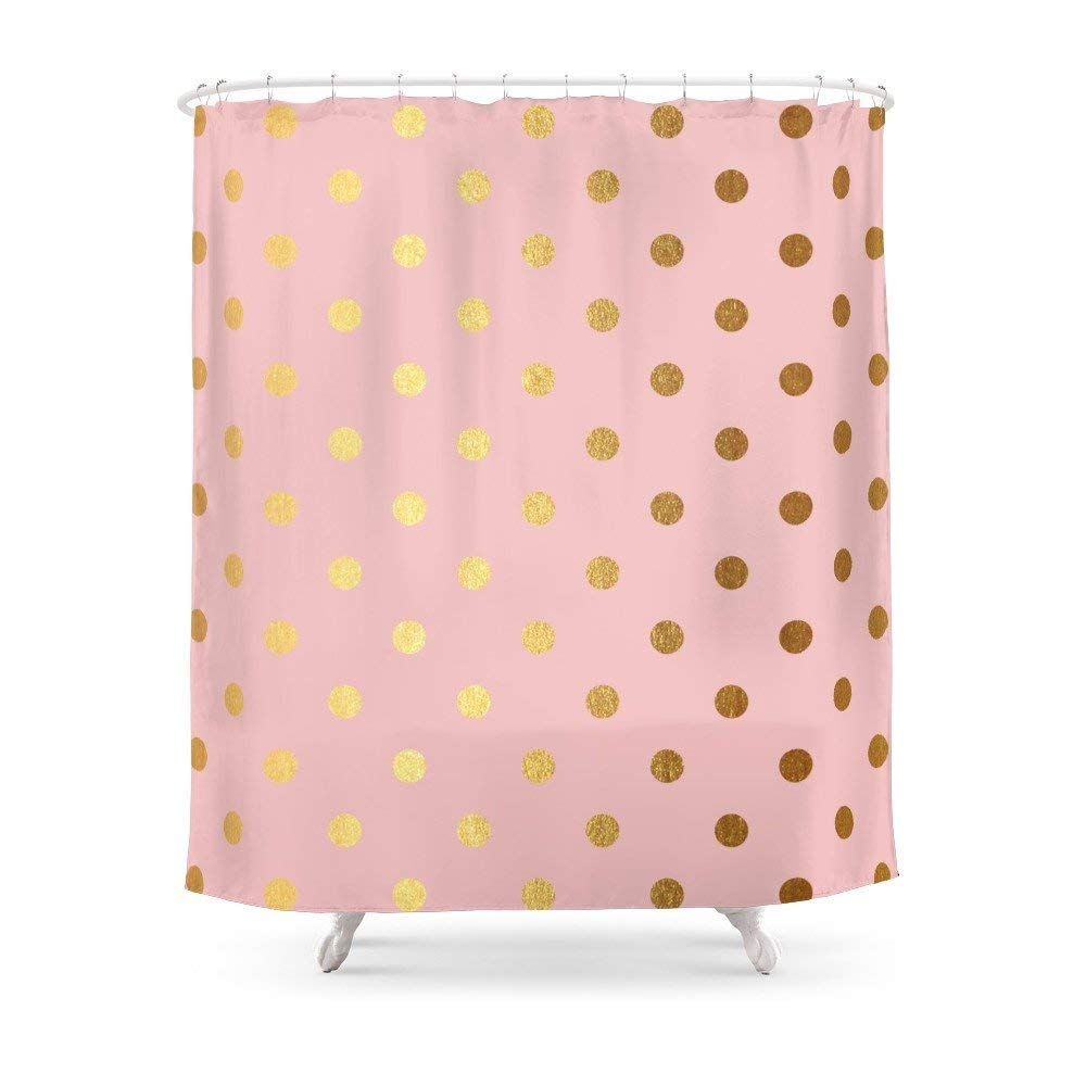 Amazon Bathroom Gold Polka Dots On Rosegold Backround
