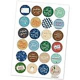 24 gemischte, witzige Weihnachtssticker - Sticker BEST OF Weihnachtsedition! - tolle Geschenkaufkleber für Weihnachten, Weihnachtsaufkleber, MATTE Papieraufkleber zum Geschenke verpacken