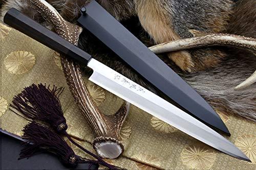 Yoshihiro VGYA300SH Stainless Hongasumi Yanagi Sushi Sashimi Japanese Chef knife, 11.8'', Rosewood by Yoshihiro (Image #1)