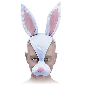 Bristol Novelty - Máscara de conejo y diadema con sonido, multicolor, talla única.