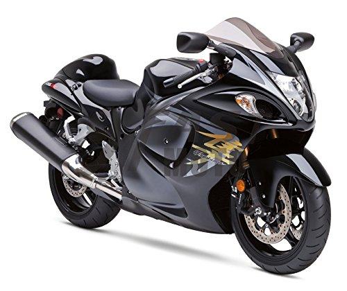 (9FastMoto Motorcycle Decals Sticker for suzuki 08-15 GSXR 1300 Hayabusa 2008-2015 GSX-R 1300 Motorbike Racing Fairing Decal (Gray & Gold))