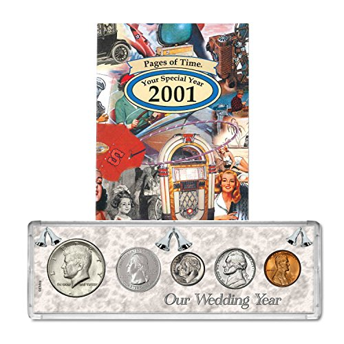 2001 Year Coin Set & Greeting Card : 18th Anniversary Gift - Our Wedding Year