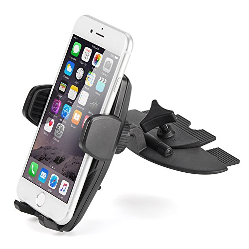 Slot Insert - iKross Touch-Lock Universal CD Insert Slot Smartphone Cradle Mount Stand Phone Holder For iPhone X, 8 Plus, 8 iPhone 7, 7 Plus, Samsung Galaxy Note 8, Galaxy S8, S8+ and more