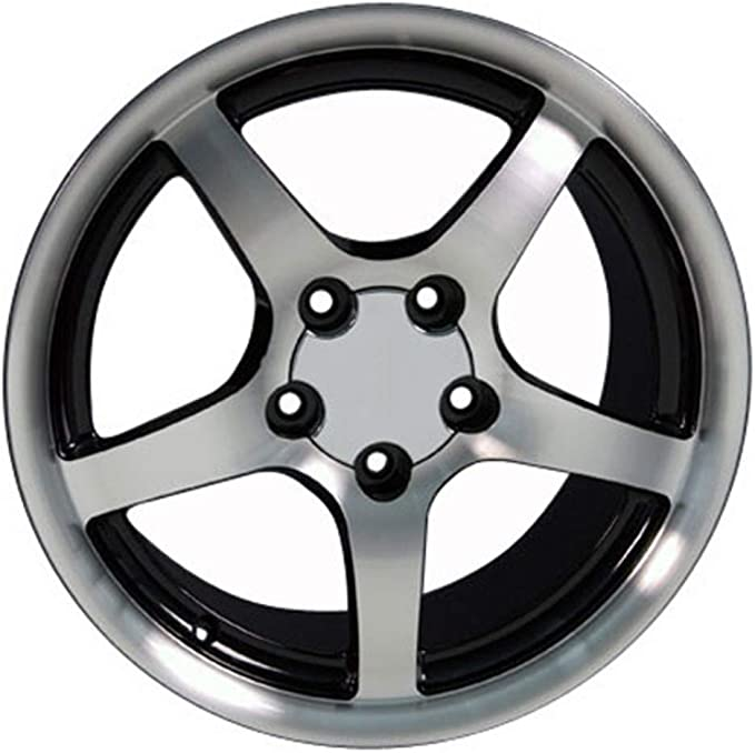 Partsynergy Replacement For 17 Rim Fits 1994-2004 Ford Mustang Machined Lip Anthracite 17x8 Aluminum Wheel