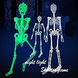 HongXander Halloween Toys, 35cm Luminous Skull Skeleton Body Scary Halloween Toy Haunted House Tricky Prop (A)