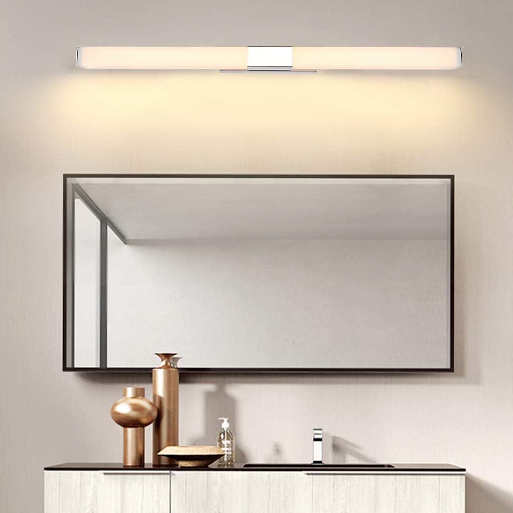 Froadp Lampe pour Miroir LED Salle de Bains IP44 24W 1500lm Lampe Armoire Miroir Applique Murale Int/érieure Moderne Luminaire Salle de Bain 3000K Blanc Chaud AC220V