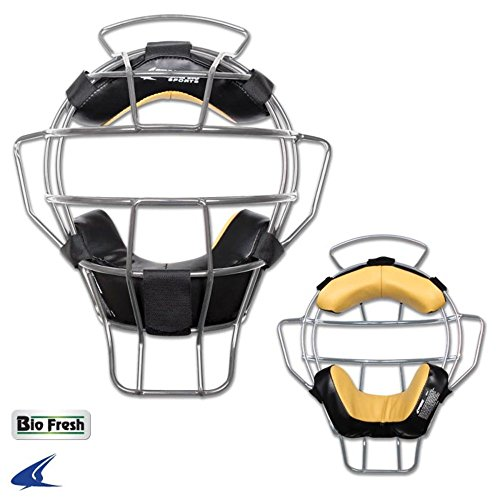 Frame Umpires Face Mask (Blackouttees cm81 Champro Pro Model Aluminum Lightweight Umpire Mask Ump Pro-Plus Aluminum Lightweight Umpire Mask - Bio-Fresh Silver)
