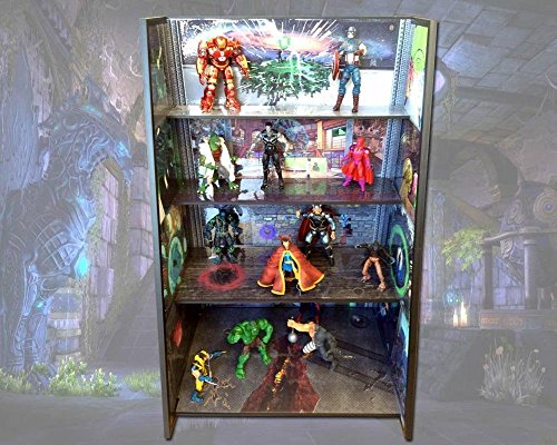 Super Heroes Stand with Graduated Shelves by PlayandDisplays